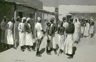 Oppression Painting - Slave Market, 1893 by Frederic Remington