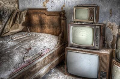 Haunted House Digital Art - Sleep Tv's by Nathan Wright
