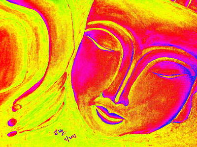 Sleeping Buddha 1 Print by Jagjeet Kaur