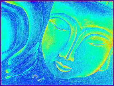 Sleeping Buddha 2 Print by Jagjeet Kaur