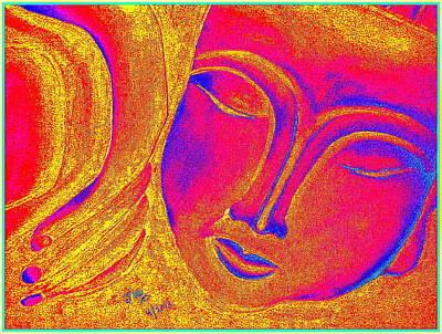 Sleeping Buddha 3 Print by Jagjeet Kaur