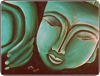Sleeping Buddha 4 Print by Jagjeet Kaur