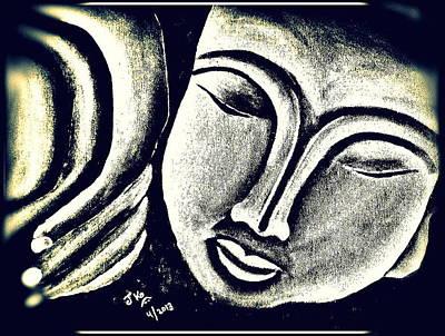 Sleeping Buddha 6 Print by Jagjeet Kaur