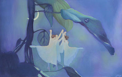 Sleeping Fairies Print by Blue Sky