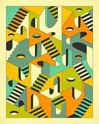 Sleepwalking Print by Jazzberry Blue