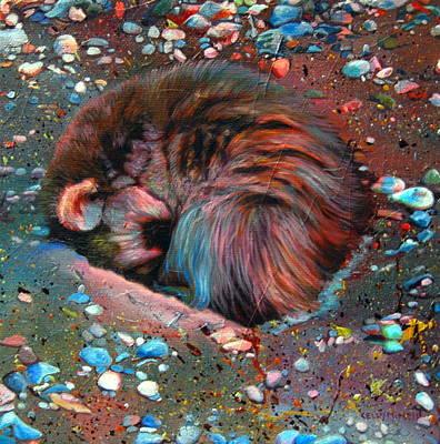 Sleepy Hollow Baby Raccoon  Original by Kelly McNeil
