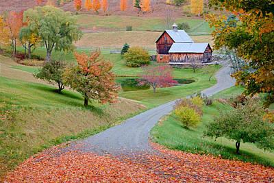 Binh Photograph - Sleepy Hollow Farm Autumn Vermont by Binh Ly