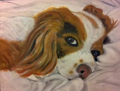 Cocker Spaniel Painting - Sleepy by Kimberly Smith