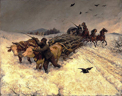Rudolf Koller Painting - Sleigh Ride by Rudolf Koller