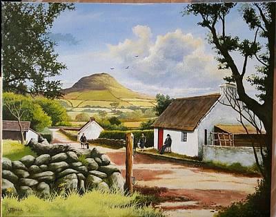 Slemish Mountain From Buckna  Original by Wilfie Neeson