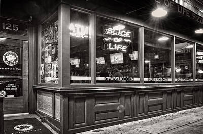 Slice Of Life In Wilmington North Carolina In Black And White Print by Greg Mimbs