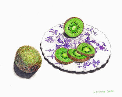 Sliced Kiwi Original by Loraine LeBlanc