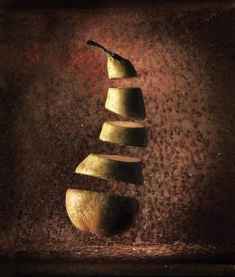 Sliced Up Pear Print by Dirk Ercken