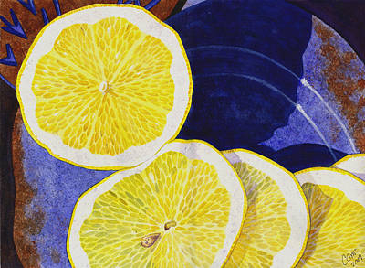 Lemon Painting - Slices by Catherine G McElroy