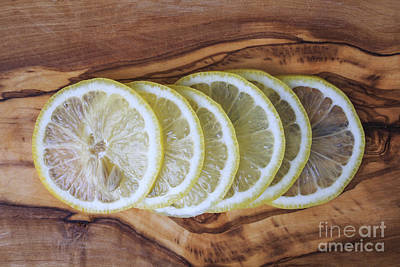 Slices Of Lemon  Print by Edward Fielding