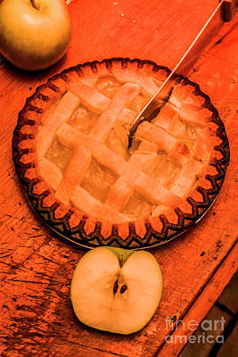 Tasty Photograph - Slicing Apple Pie by Jorgo Photography - Wall Art Gallery