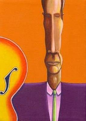 Modern Painting - Slim Jazzman by Naomi Shadle