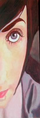 Painting - Sliver Portrait - Natalie by Susan McCarrell