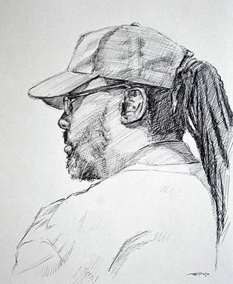 Baseball Art Drawing - Slo by Christopher Reid