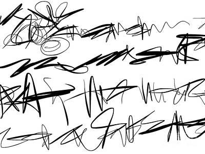 Ipad Design Painting - Sloppy Writing by Go Van Kampen