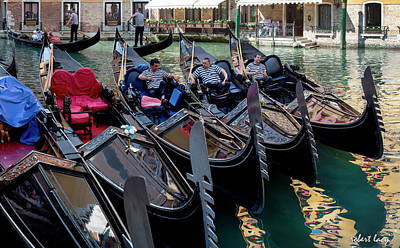 Photograph - Slow Day, Venice by Robert Lacy