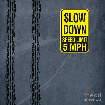Artprint Drawing - Slow Down, Man by Pablo Franchi