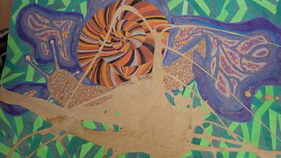 Slug And Flower Print by Peter Adam