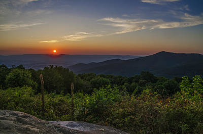 Skyline Drive National Park At Sunset Print by Bill Cannon
