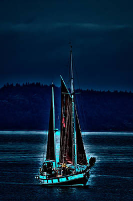 Small Among The Tall Ships Print by David Patterson