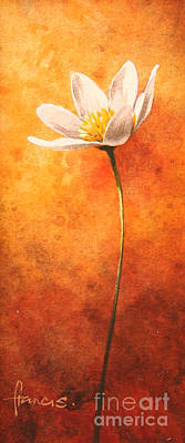 Anemones Painting - Small Anemone by John Francis