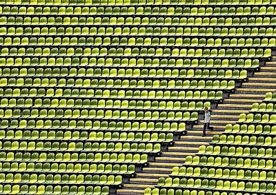 Mas Photograph - Small Boy - Plenty Stadium by Herbert A. Franke