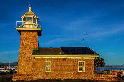 Abbott Photograph - Small Brick Lighthouse by Garry Gay