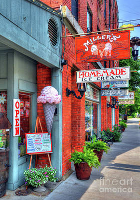 Downtown Nashville Photograph - Small Town America 2 by Mel Steinhauer