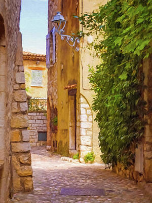 Small Town France Print by Impressionist Art