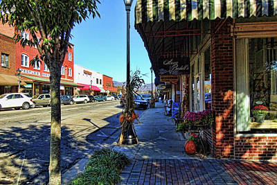 Small Town U. S. A. Print by HH Photography of Florida