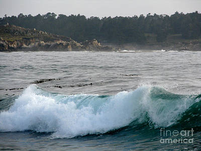 Small Wave On Carmel Bay Print by James B Toy