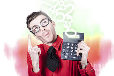 Accountant Photograph - Smart Accountant Showing Income Tax Return Growth by Jorgo Photography - Wall Art Gallery