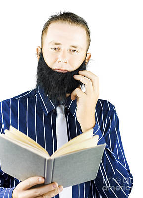 Smart Man Reading Book Of Knowledge Print by Jorgo Photography - Wall Art Gallery