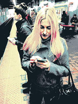 Smartphone Blonde Print by Shay Culligan