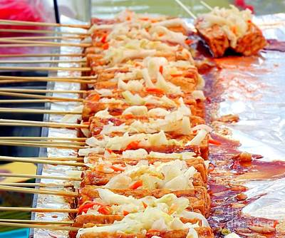Smelly Fermented Tofu Skewers With Pickled Cabbage Print by Yali Shi