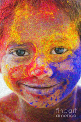 Multicolored Digital Art - Smile Your Amazing by Tim Gainey