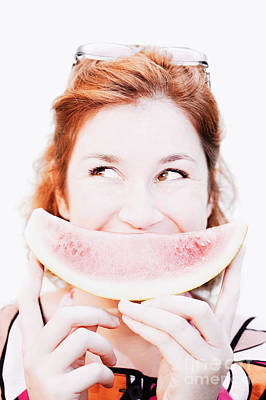 Watermelon Photograph - Smiling Summer Snack by Jorgo Photography - Wall Art Gallery