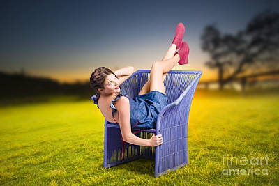 Woman Enjoying Life Photograph - Smiling Woman Relaxing Outdoors Looking Happy  by Jorgo Photography - Wall Art Gallery