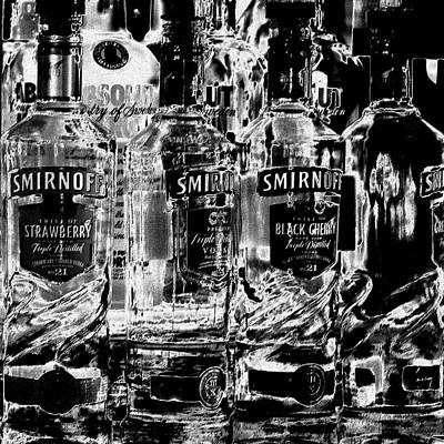 Glass Photograph - Smirnoff Vodka by David Patterson