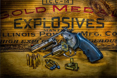 Smith And Wesson 357 Magnum Print by Paul Freidlund