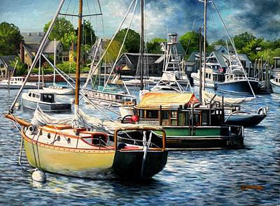 Smiths Cove Gloucester Ma Original by Eileen Patten Oliver