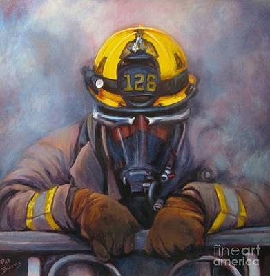 Wildfire Painting - Smoke Jumper 126 by Pat Burns