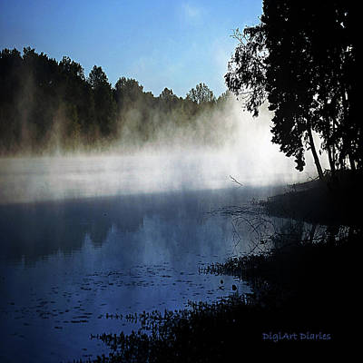 Smoke On The Water Print by DigiArt Diaries by Vicky B Fuller