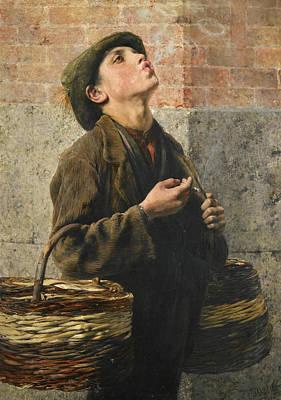 Georgio Painting - Smoke Rings. The Little Struggler  by Georgios Jakovidis