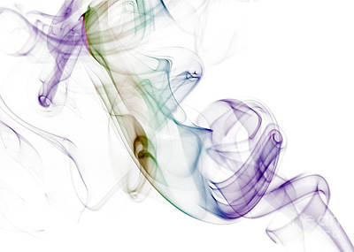 Smoke Seahorse Print by Nailia Schwarz